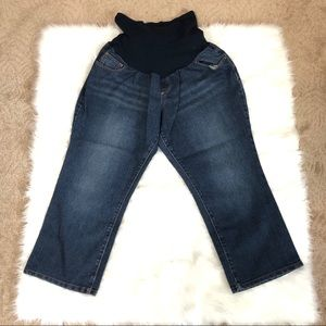 Motherhood Maternity XL denim capris full panel